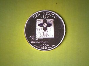2008 S 25C NEW MEXICO PROOF 50 STATES QUARTER