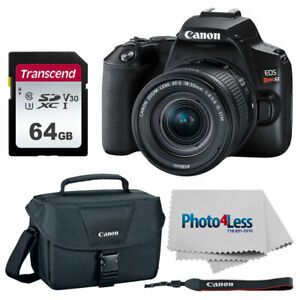 CANON EOS REBEL SL3 DIGITAL SLR CAMERA   18 55MM LENS   CANON CASE   64GB CARD