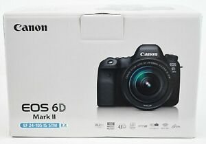 CANON EOS 6D MARK II DIGITAL SLR CAMERA WITH CANON EF 24 105MM F/3.5 5.6 IS STM