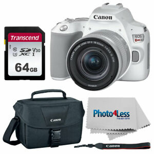 CANON EOS REBEL SL3 DIGITAL SLR CAMERA  WHITE    CANON EF S 18 55MM F/4 5.6 IS S