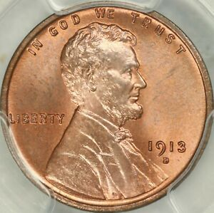1913 D LINCOLN CENT PCGS MS66 RD