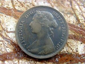 1891  GREAT BRITAIN HALF PENNY HIGH GRADE ITEM