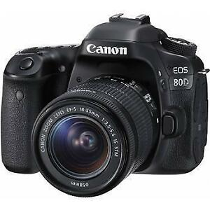 CANON EOS 80D 24.2MP DIGITAL SLR CAMERA KIT WITH EF S 18 55MM F/3.5 5.6 IS