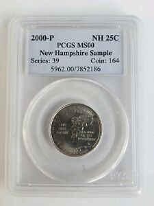 2000 P NEW HAMPSHIRE QUARTER PCGS SAMPLE HOLDER UNUSUAL COLLECTIBLE SHIPS FREE