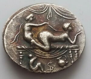 CALIGULA ANCIENT ROMAN SPINTRIA BROTHEL COIN EROTIC SEXUAL ANTIQUE TOKEN 6