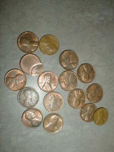 PENNY STAMPED & MISS STRIKE LOT 16 COINS OLD USA  OFF CENTER UNUSUAL