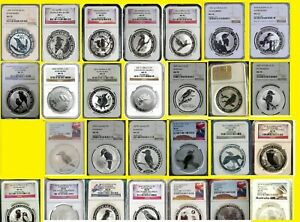 Click now to see the BUY IT NOW Price! 1992 2019 AUSTRALIA 27 OZ SILVER 27 COINS KOOKABURRA SET ALL PERFECT NGC MS 70