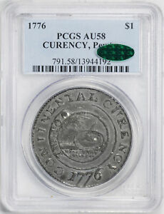 Click now to see the BUY IT NOW Price! 1776 CONTINENTAL CURRENCY $1 PCGS AU 58