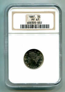 Click now to see the BUY IT NOW Price! 1887 LIBERTY NICKEL NGC PR 67 NICE ORIGINAL COIN FINEST KNOWN TOP POP 1 OF 3
