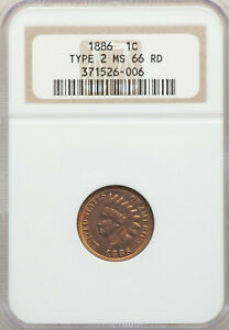 Click now to see the BUY IT NOW Price! 1886 1C INDIAN HEAD ONE CENT PENNY NGC MS66 RD TOP POP NONE HIGHER