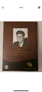 2015 JOHN F. KENNEDY COIN AND CHRONICLES SET  REVERSE PROOF $1   SILVER MEDAL