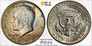 Click now to see the BUY IT NOW Price! 1978 D KENNEDY HALF DOLLAR PCGS MS63 UNC MONSTER RAINBOW TONED CHOICE COLOR  DR