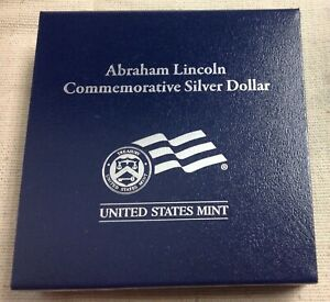 2009 US MINT ABRAHAM LINCOLN COMMEMORATIVE SILVER DOLLAR   PROOF
