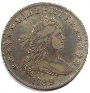 1799 DRAPED BUST SILVER DOLLAR $1   XF DETAILS    TYPE COIN