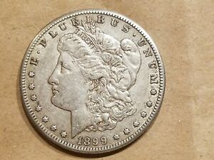 1899 O MORGAN SILVER DOLLAR LIBERTY HEAD $1 COIN AMERICAN EAGLE EF / AU