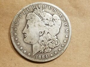 1884 O MORGAN SILVER DOLLAR LIBERTY HEAD $1 COIN AMERICAN EAGLE NICE