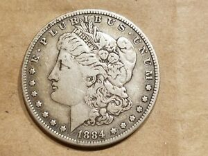 1884 MORGAN SILVER DOLLAR LIBERTY HEAD $1 COIN AMERICAN EAGLE NICE