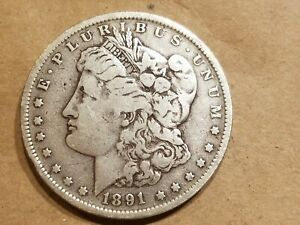 1891 O MORGAN SILVER DOLLAR LIBERTY HEAD $1 COIN AMERICAN EAGLE NICE