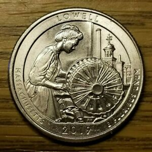 2019 P LOWELL QUARTER. MINT ERROR COIN. MULTIPLE DIE CHIPS AND DIE CRACK.