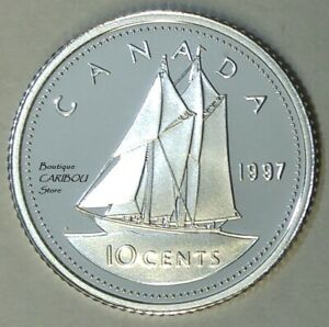 1997 CANADA SILVER PROOF 10 CENTS