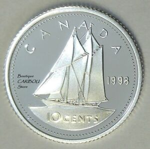 1998 CANADA SILVER PROOF 10 CENTS