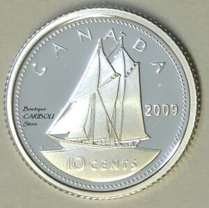 2009 CANADA SILVER PROOF 10 CENTS