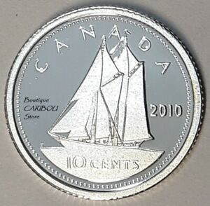 2010 CANADA SILVER PROOF 10 CENTS