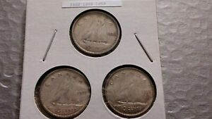 1938 1955 1959 10C SILVER CANADIAN DIME LOT