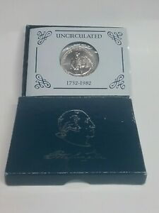 1982D GEORGE WASHINGTON HALF DOLLAR US COMMEMORATIVE 90 SILVER PROOF GIFT HORSE