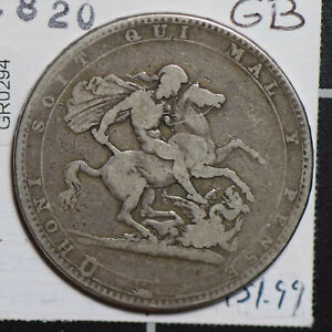 GREAT BRITAIN 1820 CROWN SILVER  GR0294 COMBINE SHIPPING