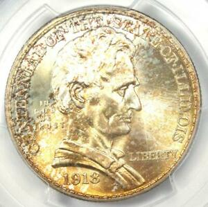 Click now to see the BUY IT NOW Price! 1918 LINCOLN ILLINOIS HALF DOLLAR 50C COIN   CERTIFIED PCGS MS67   $1 850 VALUE