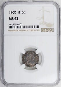 Click now to see the BUY IT NOW Price! 1800 DRAPED BUST H10C NGC MS 63