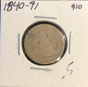 SEATED DIME  UNKNOWN DATE  AG  DB1:153