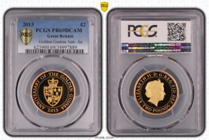 Click now to see the BUY IT NOW Price! 2013 GOLDEN GUINEA GOLD PROOF 2 TWO POUND COIN PCGS PR69DCAM