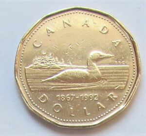 1992 CANADA LOONIE   COMBINED SHIPPING