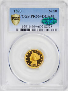 Click now to see the BUY IT NOW Price! 1890 LIBERTY HEAD $2.5 PCGS PR 66  DCAM