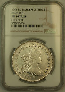 Click now to see the BUY IT NOW Price! 1796 LD SL DRAPED BUST SILVER DOLLAR NGC AU DETAILS  LUSTROUS  BB 65 B 5  KH