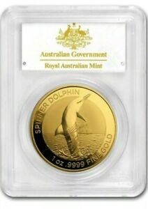 Click now to see the BUY IT NOW Price! VERY  2020 AUSTRALIA 1 OZ GOLD $100 DOLPHIN PCGS MS70 COA 6 FIRST DAY