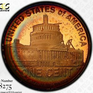 2009 S PCGS PR67RD RAINBOW TONED COLOR PROOF LINCOLN PRESIDENCY CENT  DR