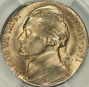 Click now to see the BUY IT NOW Price! 1951 S JEFFERSON NICKEL PCGS MS67FS   TOP POP
