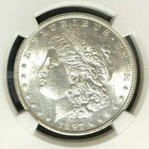 1897 VAM 6A NGC MS 61 MORGAN SILVER DOLLAR GENE L HENRY LEGACY COLLECTION