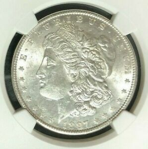 1897 VAM 6A NGC MS 62 MORGAN SILVER DOLLAR GENE L HENRY LEGACY COLLECTION