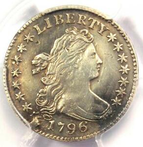 1796 DRAPED BUST DIME 10C COIN   CERTIFIED PCGS XF DETAILS   FIRST DIME MINTED