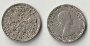 1959 GREAT BRITAIN SIXPENCE COIN