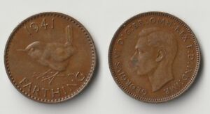 1941 GREAT BRITAIN FARTHING COIN