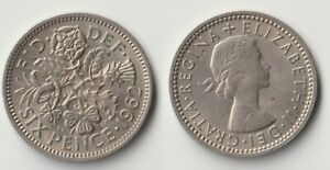1962 GREAT BRITAIN SIXPENCE COIN