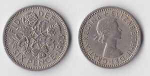 1963 GREAT BRITAIN SIXPENCE COIN