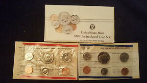 1988 P & D UNCIRCULATED US  MINT SET