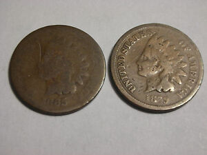 1865 & 1879 INDIAN HEAD CENTS
