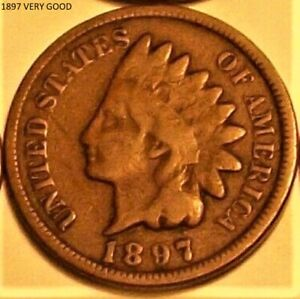 1 1897 INDIAN HEAD CENT     NICE VG  TO FINE         LOW COMBINED SHIPPING